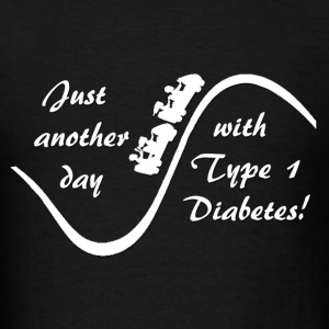Just Another Day With Type 1 Diabetes - White Hoodies - Men's T-Shirt