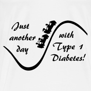 Just Another Day With Type Diabetes - Black  Hoodies - Men's Premium T-Shirt