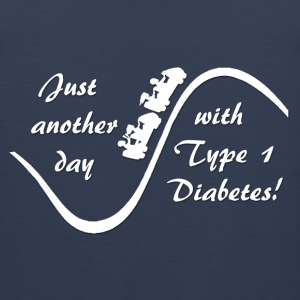 Just Another Day With Type 1 Diabetes - White Kids' Shirts - Men's Premium Tank