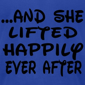 She lifted happily ever after Tanks - Men's T-Shirt by American Apparel
