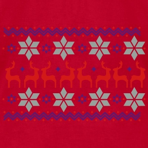 Poinsettia pattern and reindeer pattern  Other - Men's T-Shirt by American Apparel