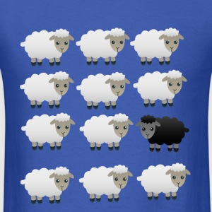 BLACK AND WHITE FLUFFY SHEEP PRINT Long Sleeve Shi - Men's T-Shirt