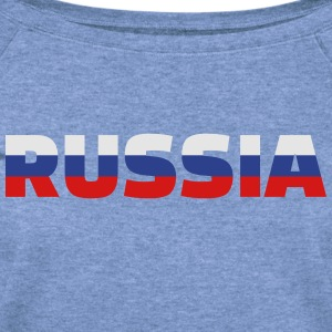 Russia T-Shirts - Women's Wideneck Sweatshirt