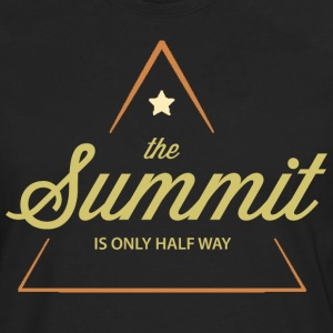 Climbing The Summit Is Only Half Way - Men's Premium Long Sleeve T-Shirt