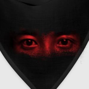 red misterious eye face - Bandana