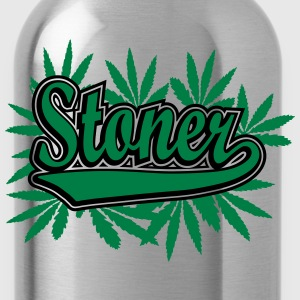 Stoner with cannabis leaves T-Shirts - Water Bottle