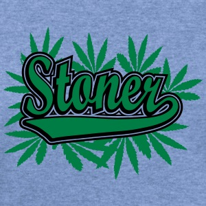 Stoner with cannabis leaves Women's T-Shirts - Women's Wideneck Sweatshirt