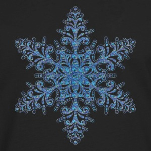 Blue Snowflake hoodie - Men's Premium Long Sleeve T-Shirt