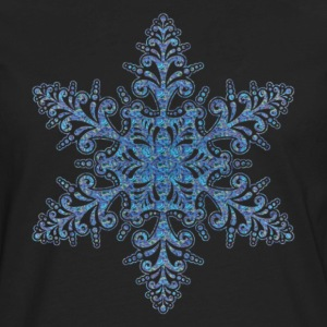 Blue Snowflake Shirt - Men's Premium Long Sleeve T-Shirt