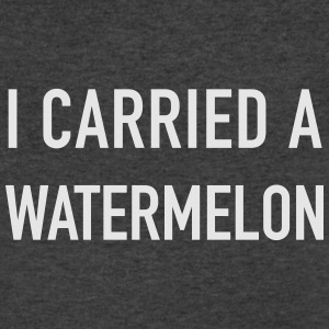 I Carried a Watermelon - Men's V-Neck T-Shirt by Canvas