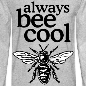 Always Bee Cool Beekeeper T-Shirt (Women Gray) - Men's Long Sleeve T-Shirt