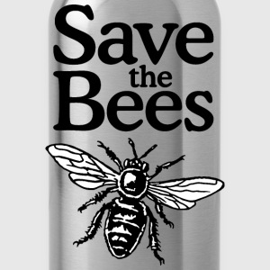 Save The Bees T-Shirt (Men Gray) - Water Bottle