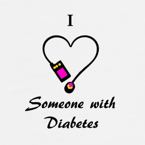 I Love Someone With Diabetes - A - P/O Mugs & Drinkware - Men's Premium T-Shirt