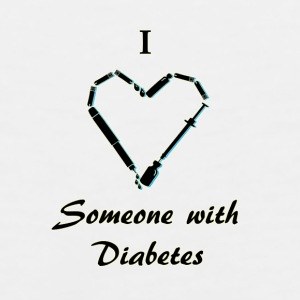 I Love Someone With Diabetes - Needle - Black Mugs & Drinkware - Men's Premium Tank