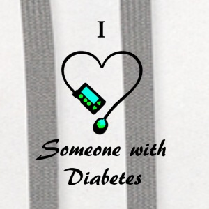 I Love Someone With Diabetes - M - B/G Mugs & Drinkware - Contrast Hoodie