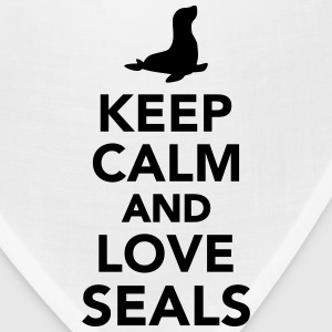 Keep calm and love Seals Mugs & Drinkware - Bandana