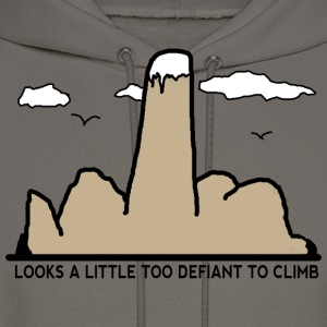Looks A Little Bit Too Defiant To Climb - Men's Hoodie