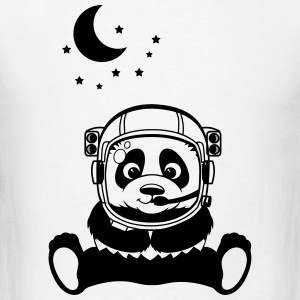 Pandanaut with sweet Panda with stars Long Sleeve Shirts - Men's T-Shirt