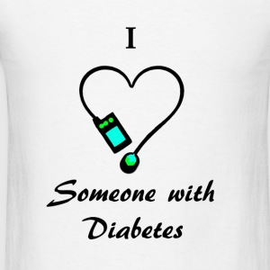 I Love Someone With Diabetes - A - B/G Tanks - Men's T-Shirt