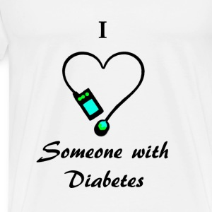 I Love Someone With Diabetes - A - B/G Tanks - Men's Premium T-Shirt