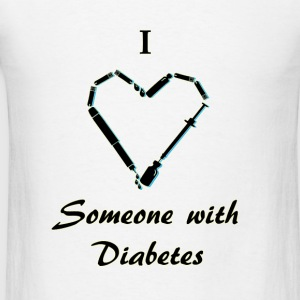 I Love Someone With Diabetes - Needle - Black Tanks - Men's T-Shirt