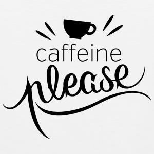 Caffeine Please Buttons - Men's Premium Tank
