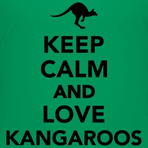 Keep calm and love Kangaroos Kids' Shirts - Toddler Premium T-Shirt