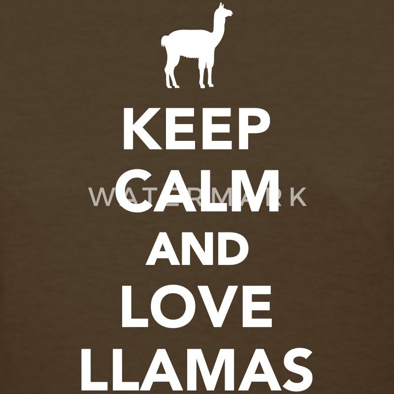 Keep calm and love llamas Women's T-Shirts - Women's T-Shirt
