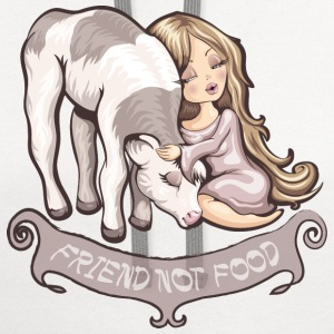 Friend not food T-Shirts - Contrast Hoodie
