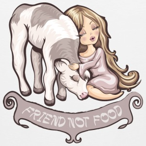 Friend not food T-Shirts - Men's Premium Tank