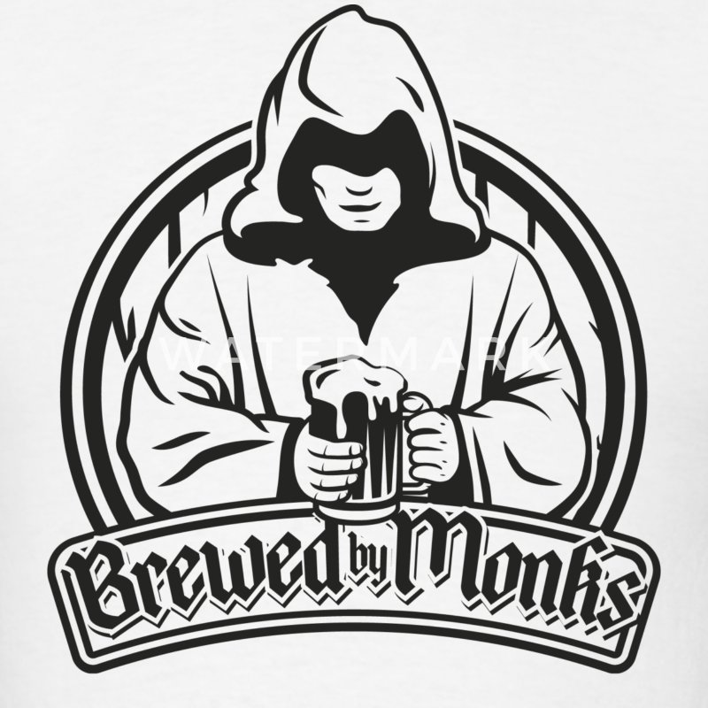 brewed by monks T-Shirts - Men's T-Shirt