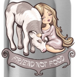 Friend not food Women's T-Shirts - Water Bottle