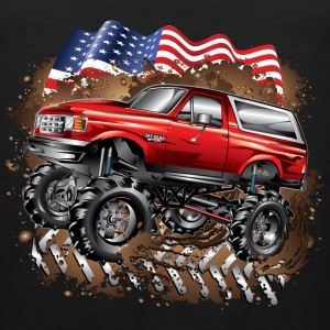 Mud Truck Ford Bronco Kids' Shirts - Men's Premium Tank