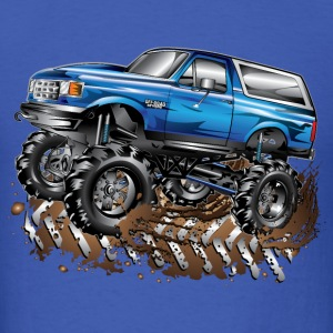 Mega Ford Bronco F150 Blu Long Sleeve Shirts - Men's T-Shirt