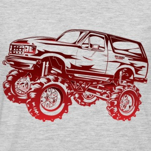 Mega Mud Ford Bronco Red Hoodies - Men's Premium Long Sleeve T-Shirt