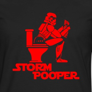 STORM POOPER ROBOT - Men's Premium Long Sleeve T-Shirt