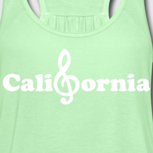 California treble clef Pacific Ocean Music Note  - Women's Flowy Tank Top by Bella