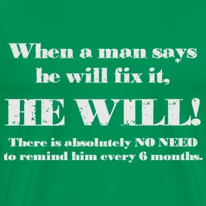 Man will fix it Hoodies - Men's Premium T-Shirt
