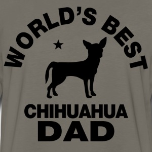 worlds best chihuahua dad T-Shirts - Men's Premium Long Sleeve T-Shirt