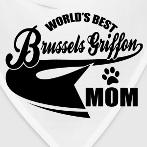 Brussels Griffon mom Women's T-Shirts - Bandana