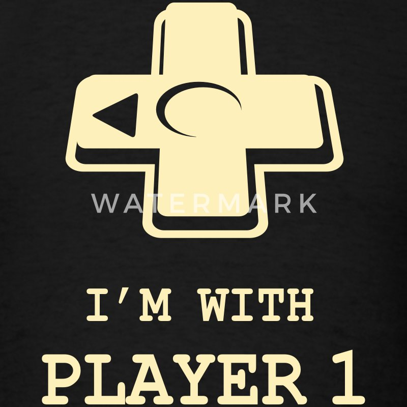 I'M WITH PLAYER ONE Couple - Men's T-Shirt