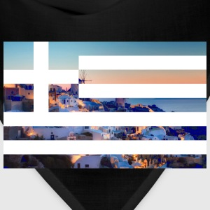 Santorini ft. Greece flag Hoodies - Bandana