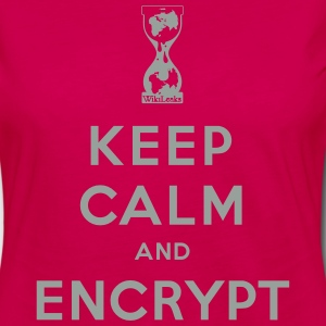 Keep calm and Encrypt T-Shirts - Women's Premium Long Sleeve T-Shirt