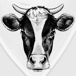 sketches of animals cow with horns - Bandana
