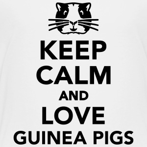Keep calm and love guinea pigs Kids' Shirts - Toddler Premium T-Shirt