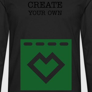 Create Your Own - Eco Friendly Tote Bag - Men's Premium Long Sleeve T-Shirt