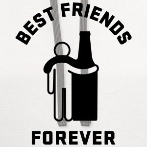 Men's Humor Best Friends Forever T-Shirts - Contrast Hoodie
