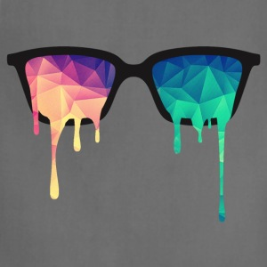 Abstract Psychedelic Nerd Glasses with Color Drops T-Shirts - Adjustable Apron