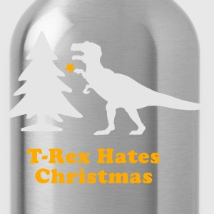 Men's Humor T-Rex Hates Christmas T-Shirts - Water Bottle