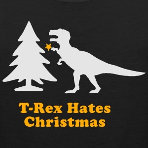 Men's Humor T-Rex Hates Christmas T-Shirts - Men's Premium Tank
